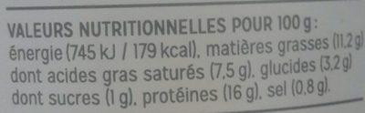Rillettes Homard au Yuzu - Nutrition facts - fr