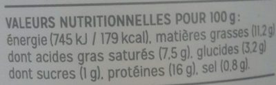 Rillettes Homard au Yuzu - Informations nutritionnelles - fr