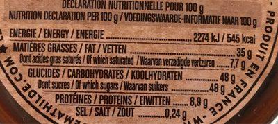 Pâte à tartiner à la praline - Voedingswaarden