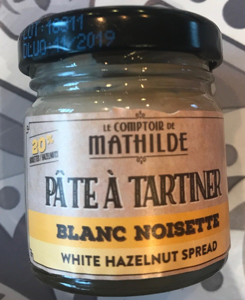 Pate a tartiner blanc noisette - Produit