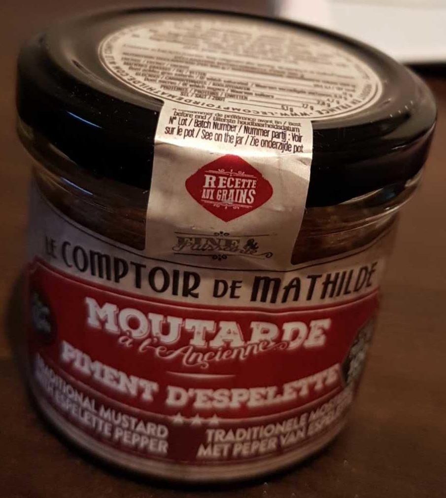 Moutarde l 39 ancienne piment d 39 espelette le comptoir de mathilde 100 g - Le comptoir de l ancienne ...