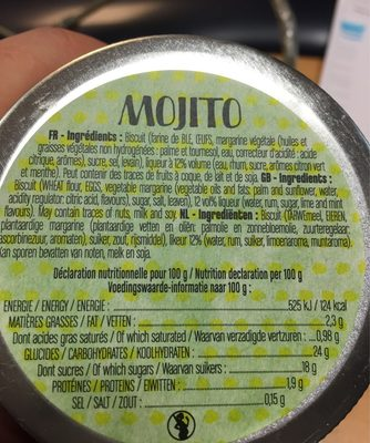 Baba Au Mojito - Nutrition facts - fr