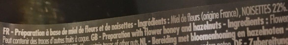 Miel de fleurs et noisettes - Ingredients - fr