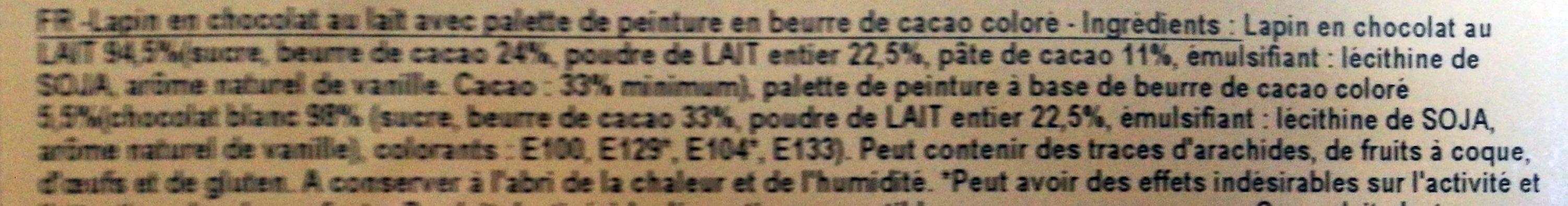 Lapinou à Peindre - Ingrédients
