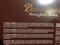 Panettone - Ingredients - fr