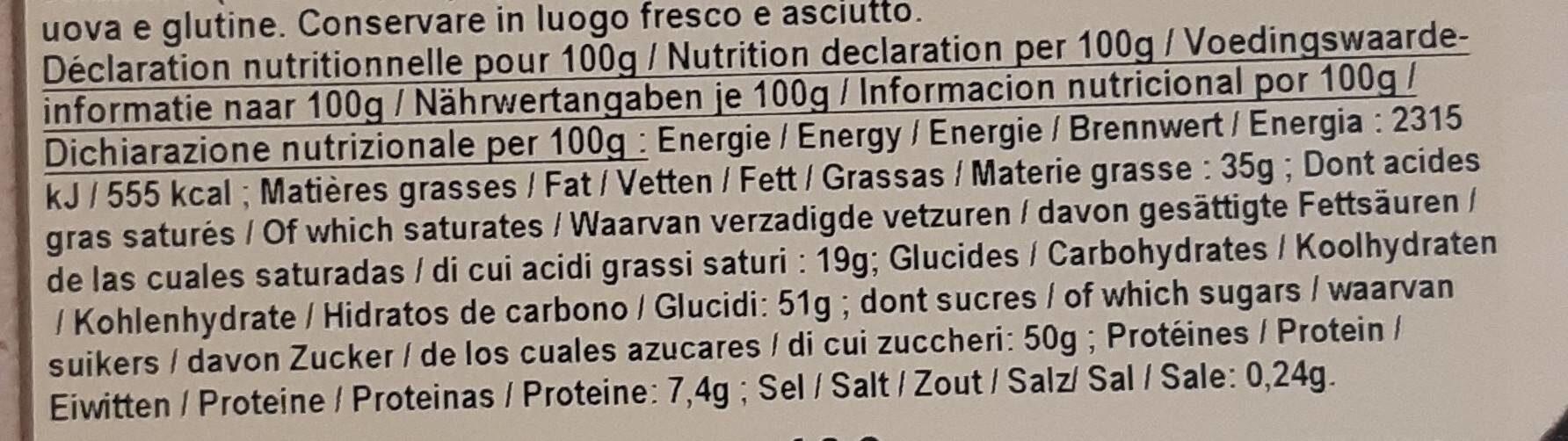 Chocolat à casser - Nutrition facts - fr