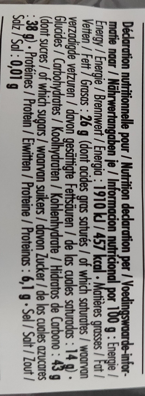 Physalis chocolar noir - Informations nutritionnelles