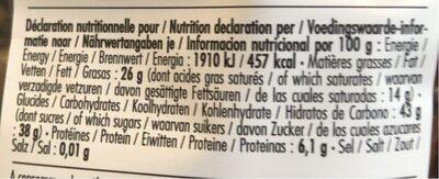 Physalis chocolat noir - Valori nutrizionali - fr