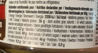 Pâte à tartiner - Nutrition facts - fr