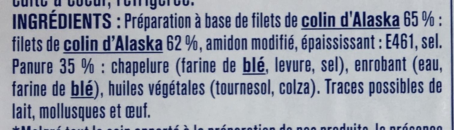 Pané Colin d'Alaska Extra Croustillant - Ingrediënten - fr
