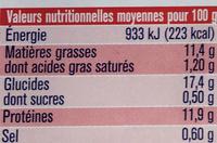 Pané Colin d'Alaska Extra Croustillant - Voedingswaarden - fr