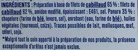 Pané Cabillaud 100% filets - Ingredients