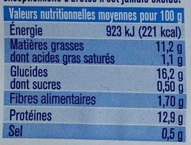 Pané Cabillaud 100% filets - Nutrition facts