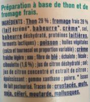 Thon fromage frais et ciboulette - Ingrediënten