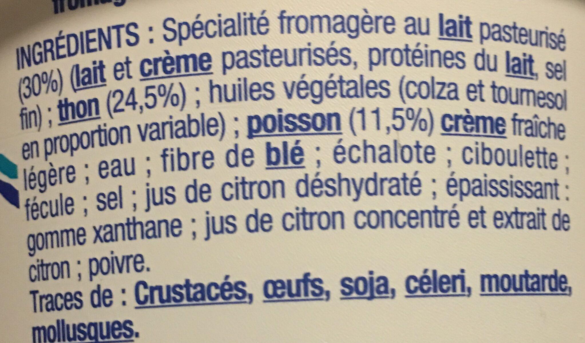 Tartinable fromager thon - Ingrediënten