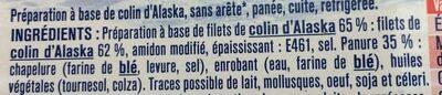 Pané Colin d'Alaska - Ingredients - fr