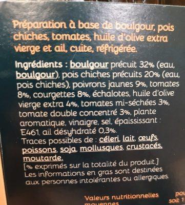 Galettes boulgour - Ingredients - fr