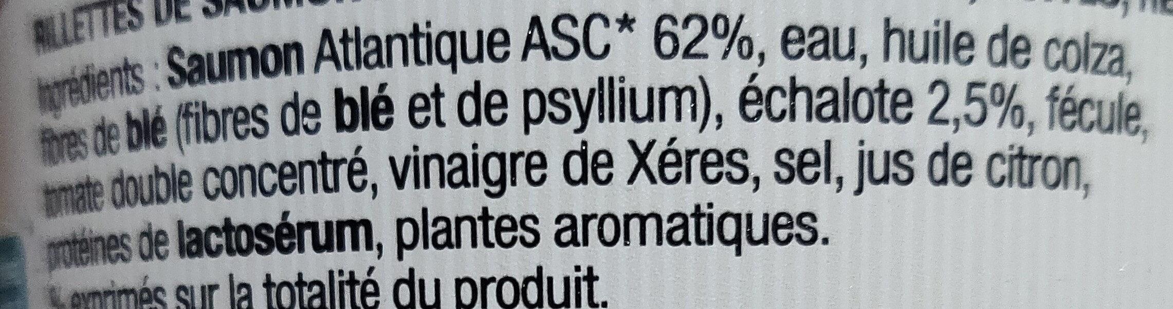 Rillettes incroyables de saumon échalote - Ingrédients - fr