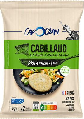 Prêt à poêler Cabillaud huile olive & basilic - Produit - fr