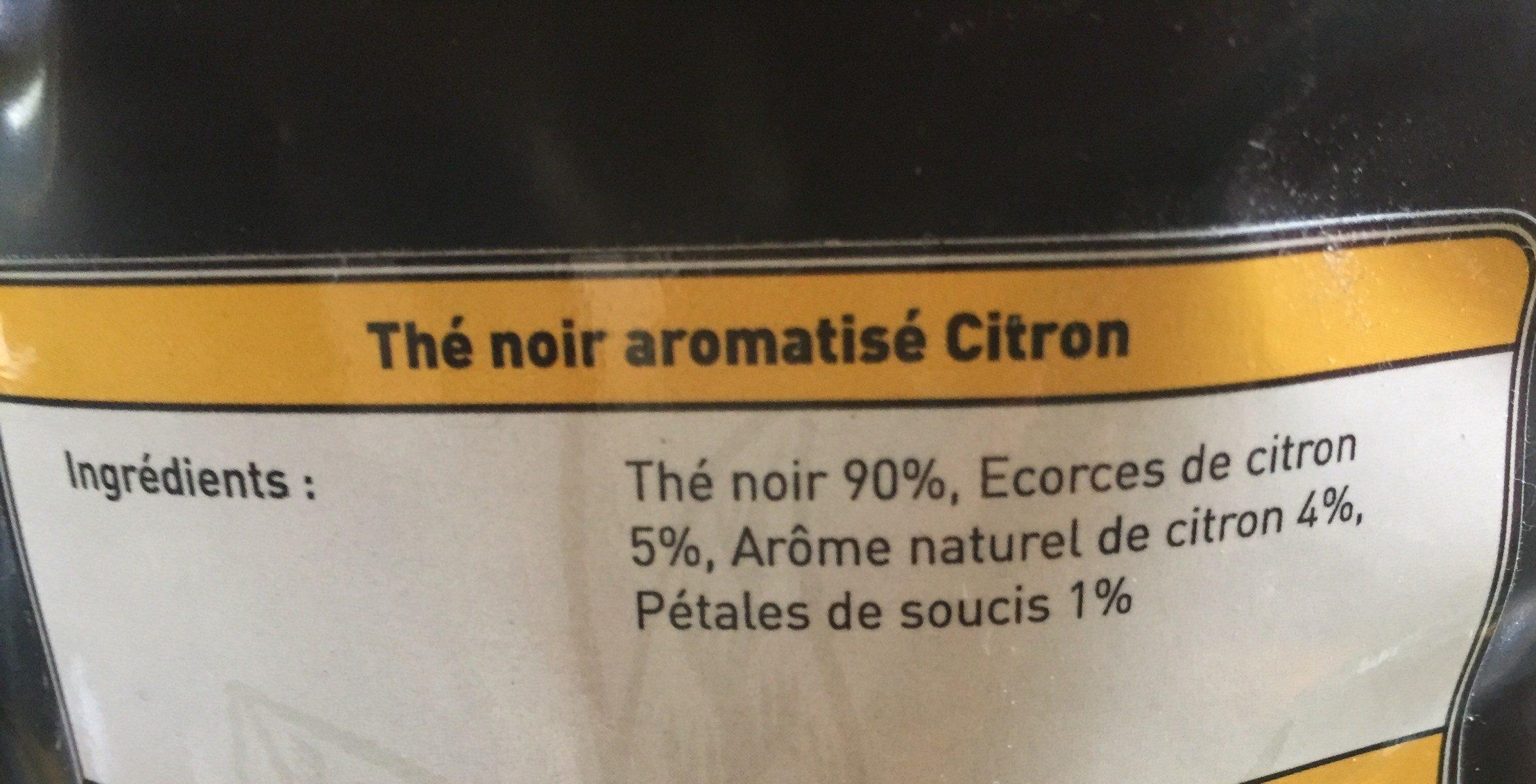 1336 - Thé noir aromatisé Citron - Ingredients - fr