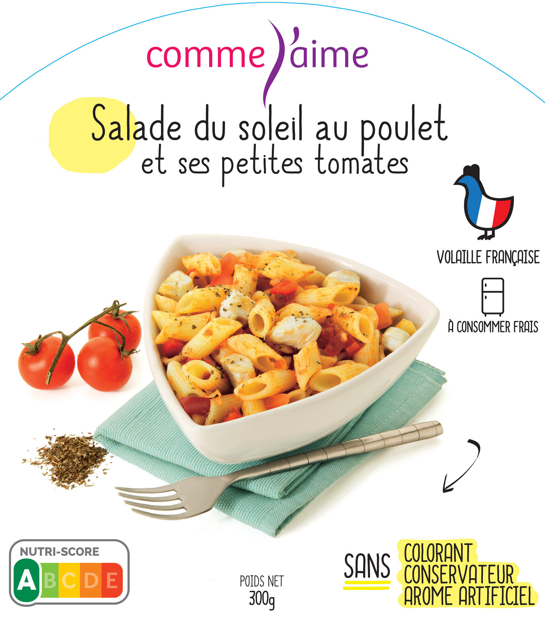 Salade du soleil au poulet et petites tomates - Product - fr