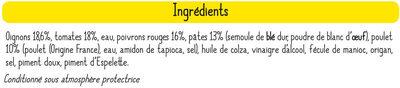 Salade du soleil au poulet et petites tomates - Ingredients - fr
