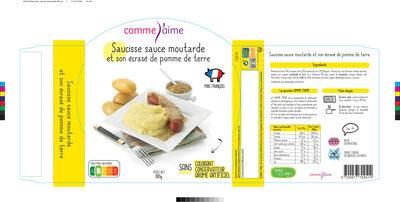 Saucisse sauce moutarde et sa purée de pommes de terre - Product - fr