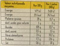 Truite et sa fondue de poireaux - Informazioni nutrizionali - fr