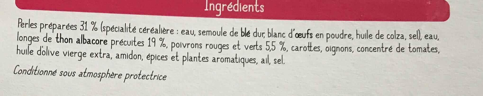 Piperade de thon et ses perles de blé - Ingrédients - fr