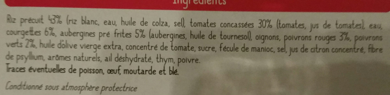 Petits légumes sauce provençale et riz - Ingrediënten - fr