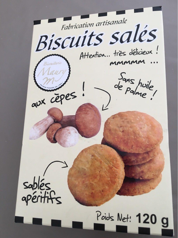 Biscuits sales aux cepes - Produit