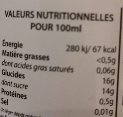 Detox juice - Informations nutritionnelles - fr