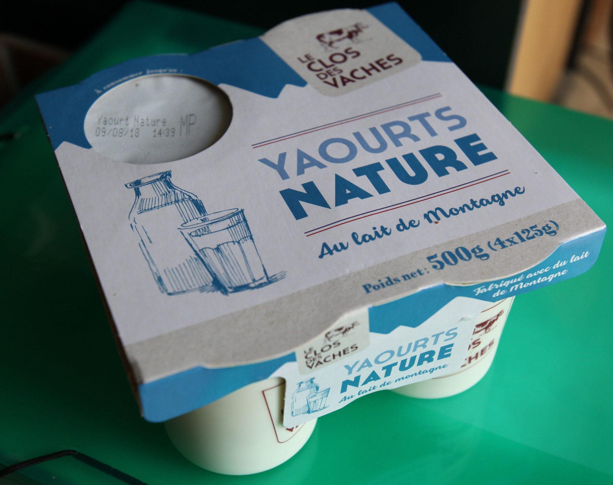 YAOURTS NATURE Au lait de Montagne - Product - fr