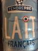 Lait français - Produit