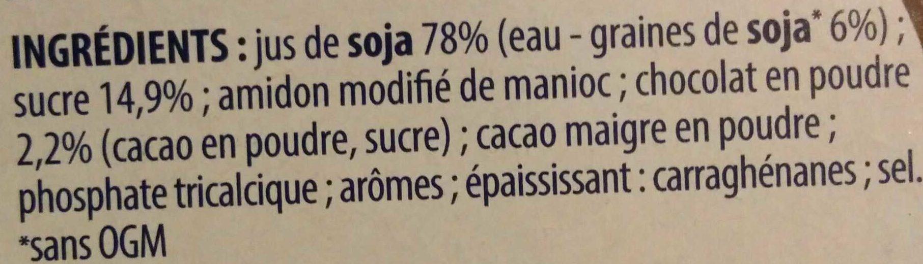 Soja douceur végétale chocolat - Ingrédients - fr