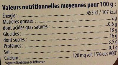 Soja douceur végétale chocolat - Informations nutritionnelles - fr