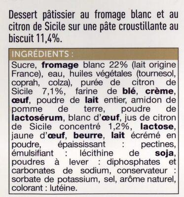 Cheesecake citron de Sicile - Ingredients
