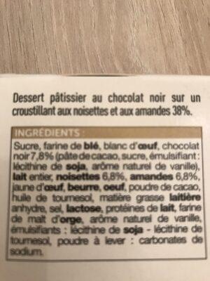 Croustillants au chocolat noir sur praline croustillant - Ingrédients - fr