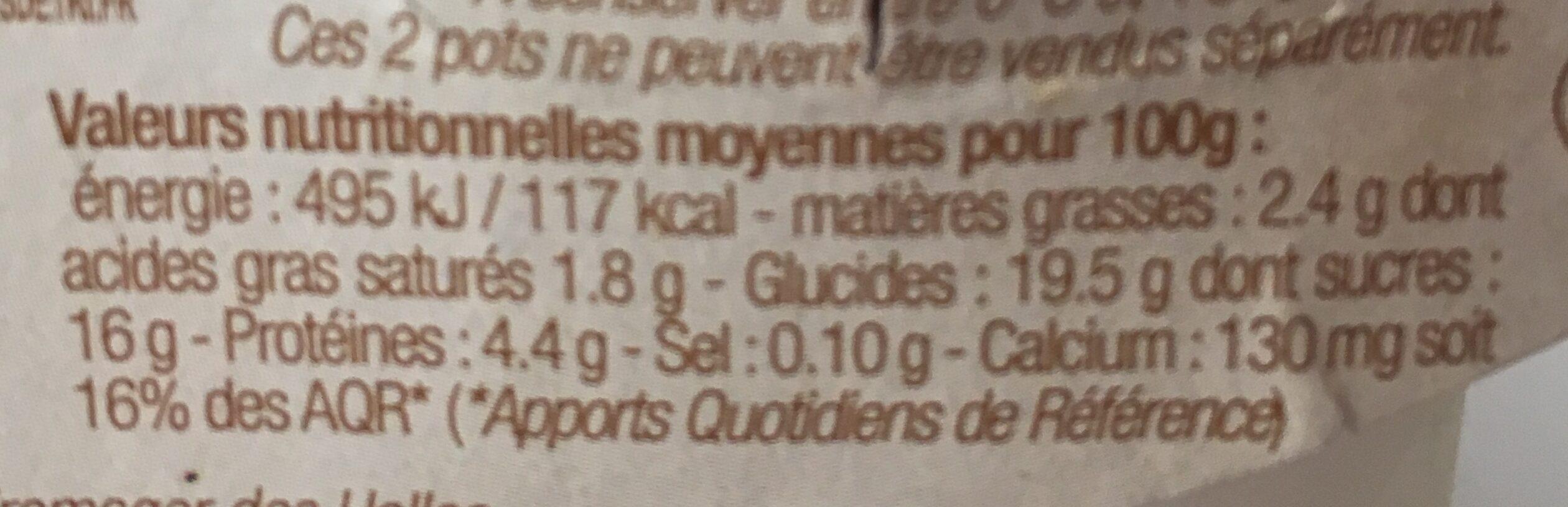 Yaourt au lait de brebis sur lit de châtaigne - Nutrition facts