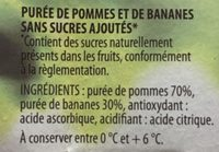 Compote Pommes Bananes - Ingredients