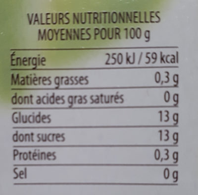 Compote Pommes Bananes - Nutrition facts