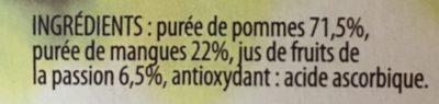 Compote Pommes Mangues Passion - Ingrédients - fr