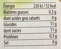 Compote Pommes Mangues Passion - Informations nutritionnelles - fr