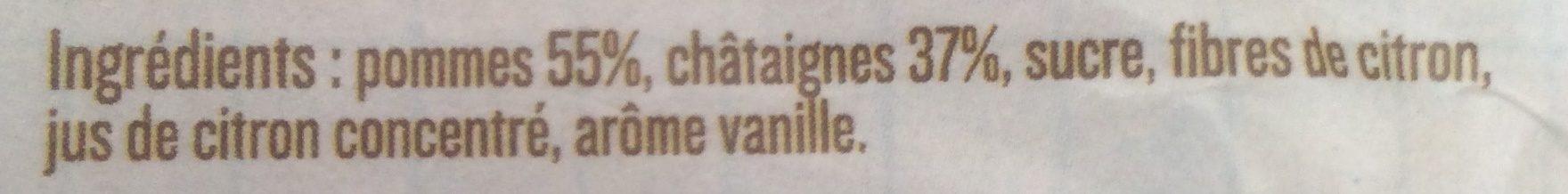 Les desserts de Chataignes d'Ardèche - Ingrédients - fr