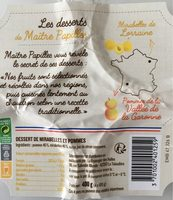 Dessert de mirabelle et pommes - Produit - fr
