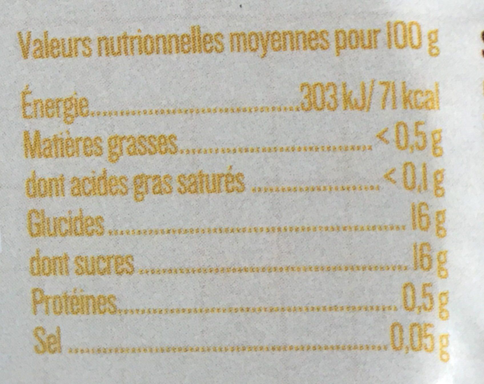 Dessert de mirabelle et pommes - Informations nutritionnelles - fr