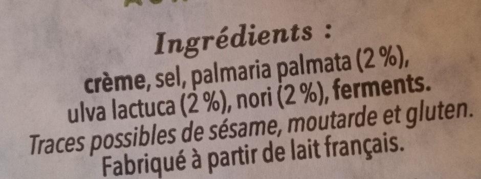 Beurre de Baratte aux 3 Algues - Ingrédients - fr