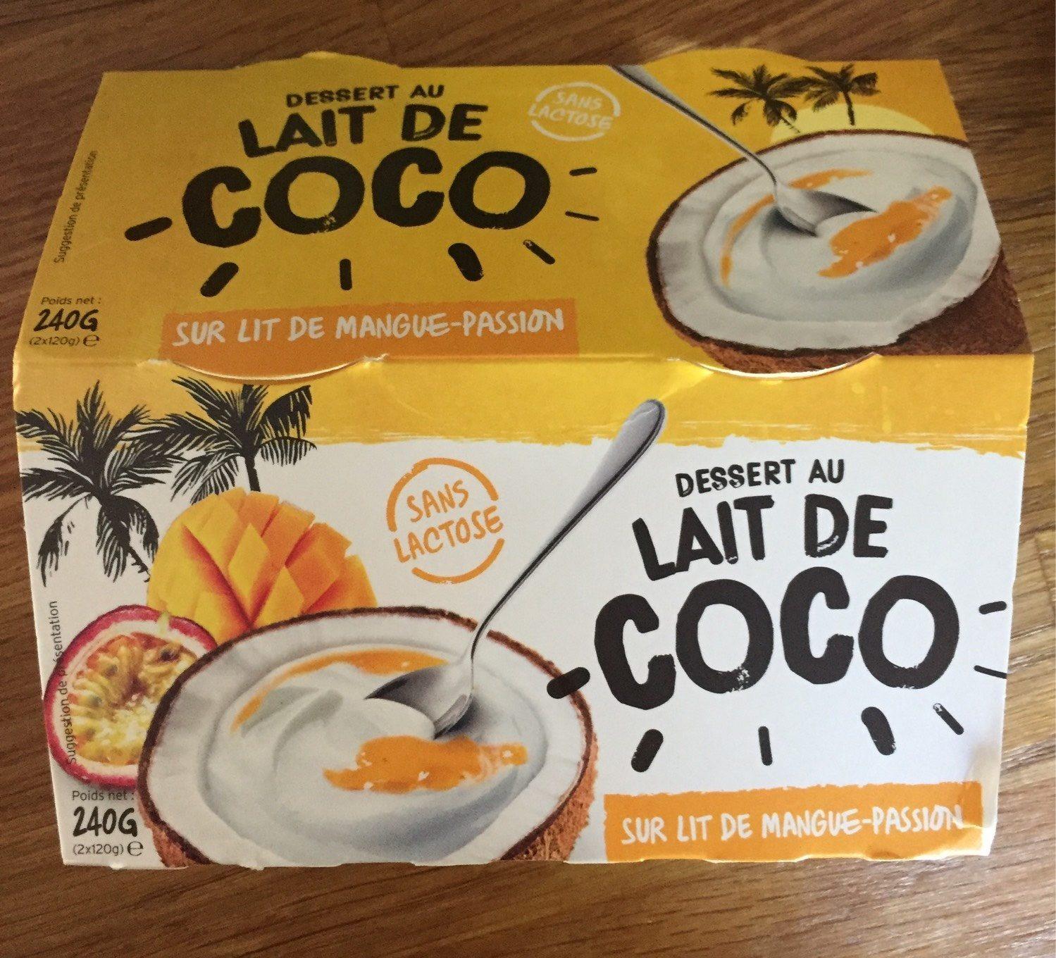Dessert au lait de coco sur lit de mangue-passion - Product