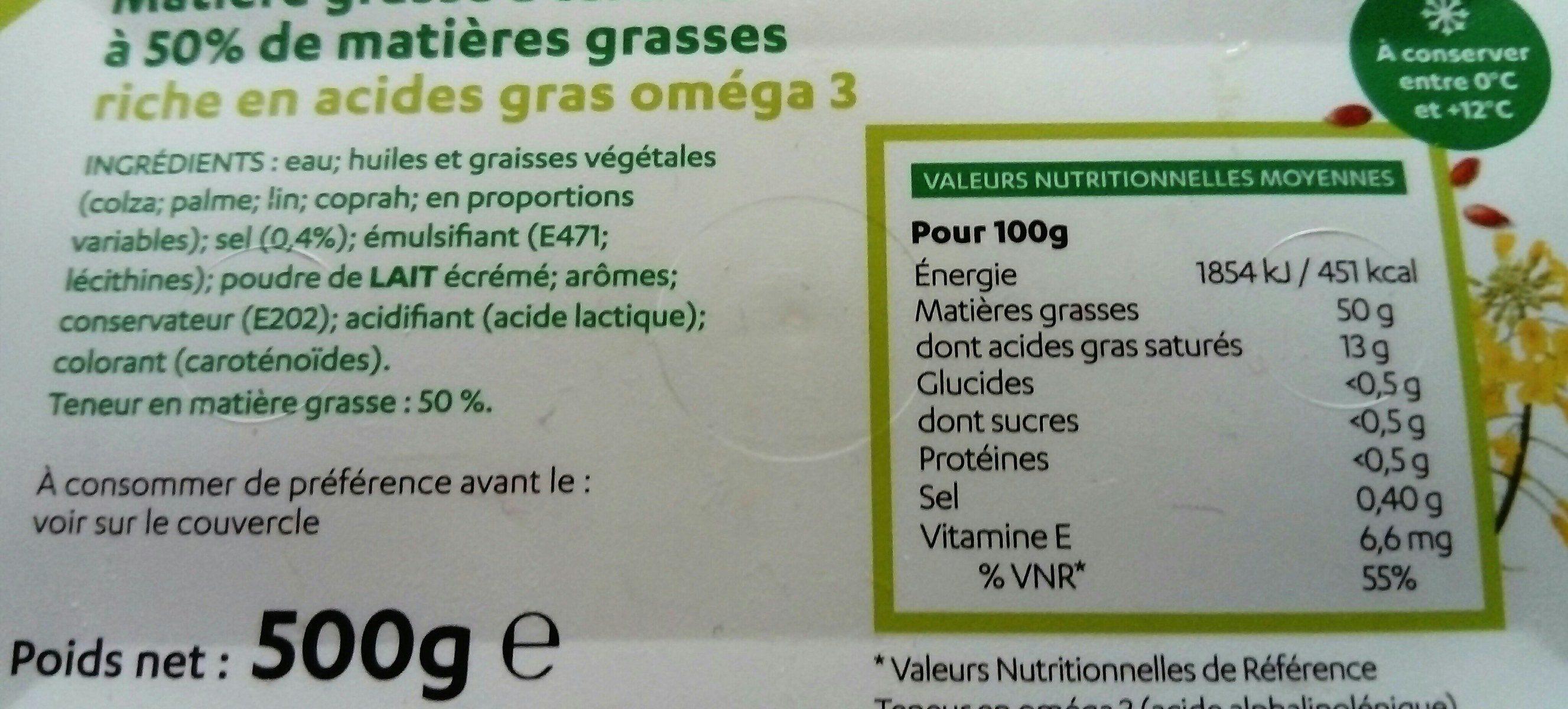 Matière grasse végétale - Ingrédients - fr