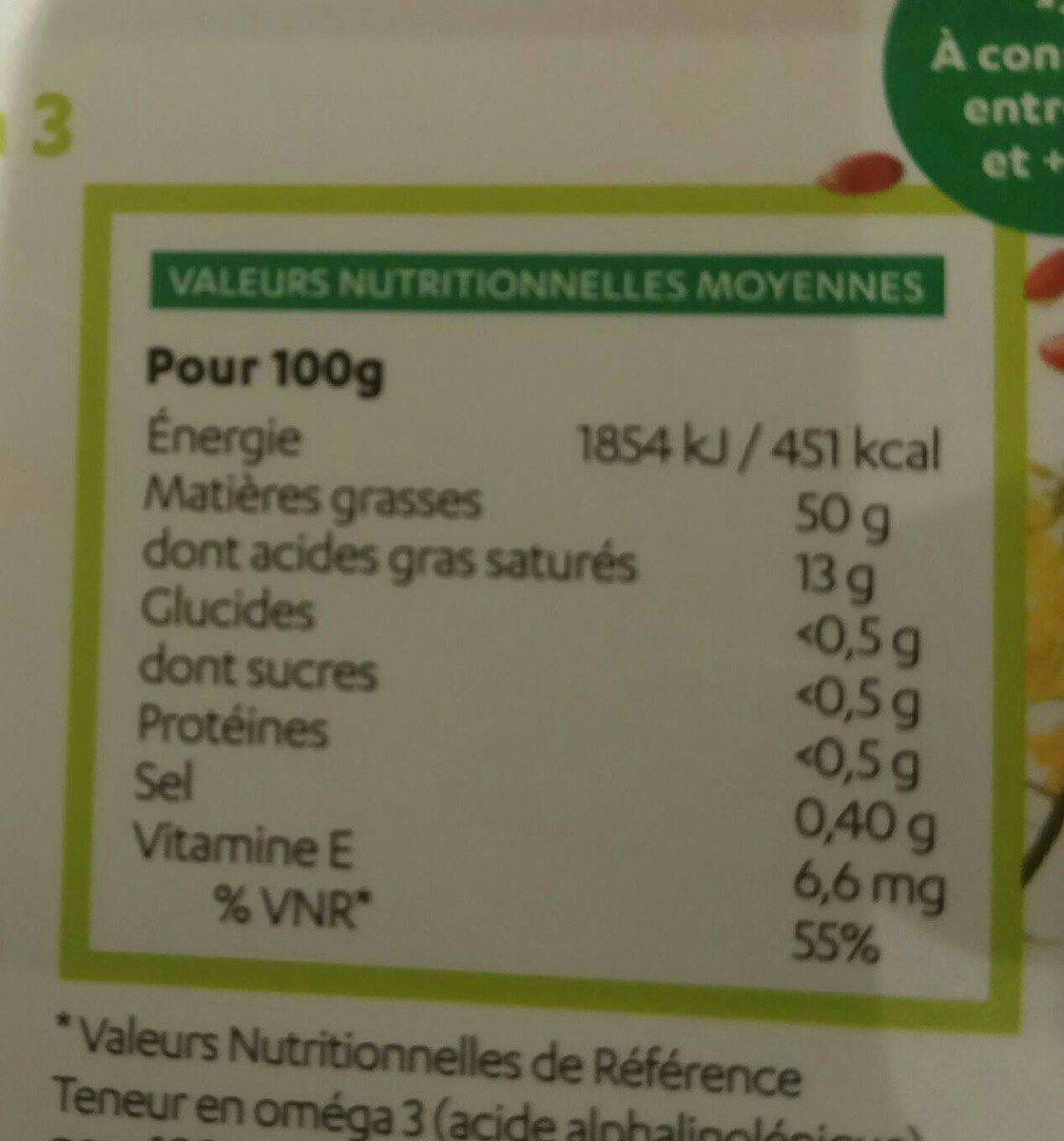 Matière grasse végétale - Informations nutritionnelles - fr